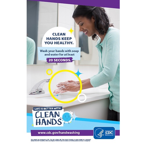 Clean Hands- Woman - CDC Official Poster