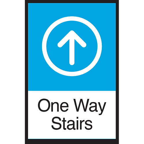 Series 3: One Way Stairs (Up Arrow) - Poster/Sign