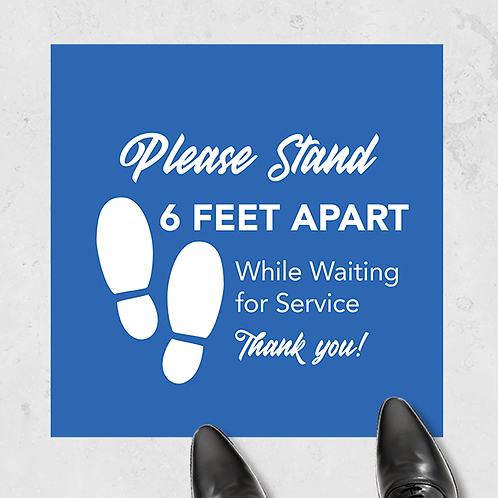 "Please Stand 6 Feet Apart - Floor Graphic 17""x17"" Non-Slip"