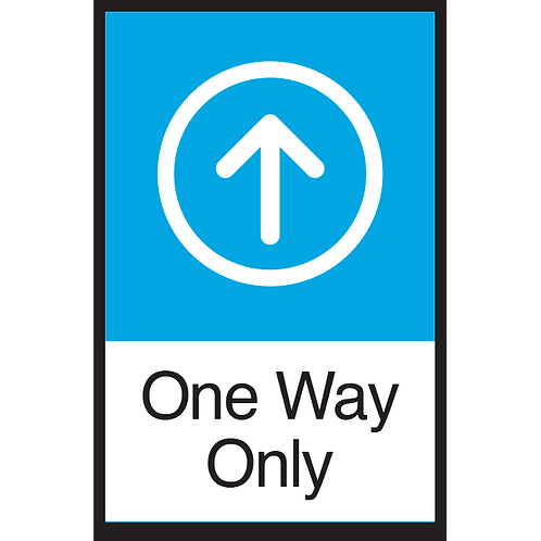 Series 3: One Way (Up Arrow) - Poster/Sign