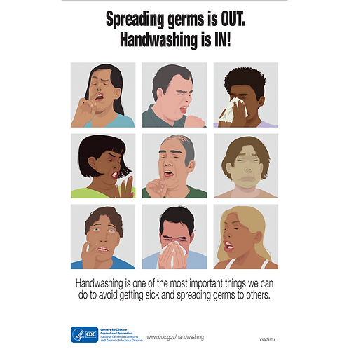 Spreading germs is Out- CDC Official Poster