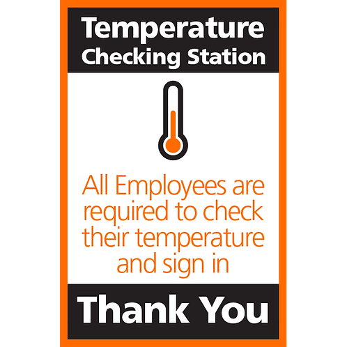 Series 4: Temperature Checking Station - Poster/Sign