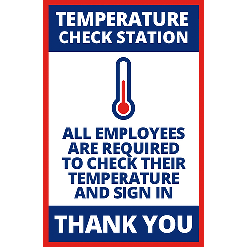 Series 1: Temperature Check Station - Poster