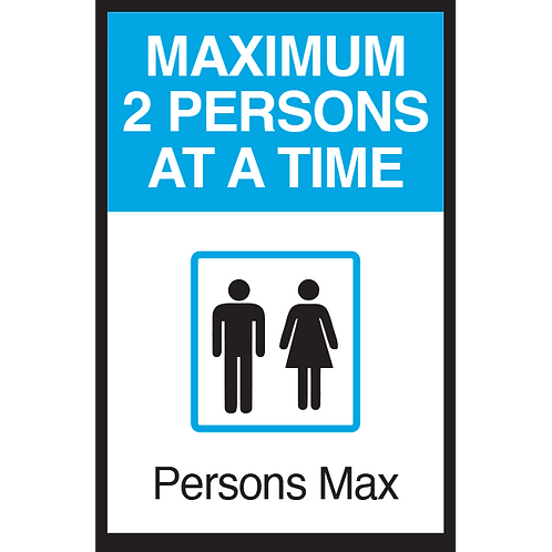 Series 3: Elevator Maximum 2 Persons at a Time - Poster/Sign