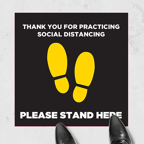 "Please Stand Here- Floor Graphic-17""x17""- Non-Slip"