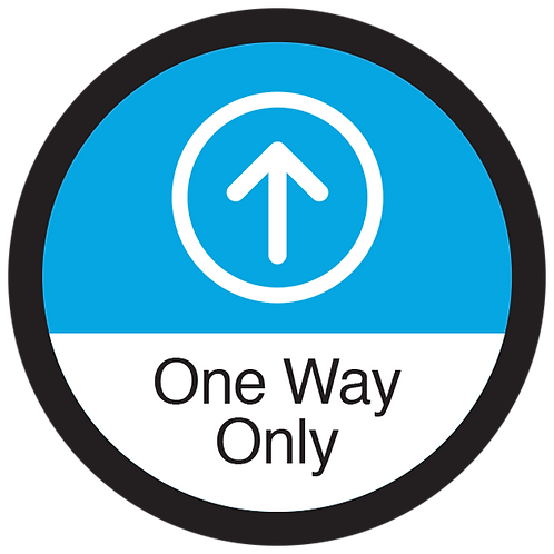 Series 3: One Way Only Up Arrow - Floor Graphic-Circle 17""