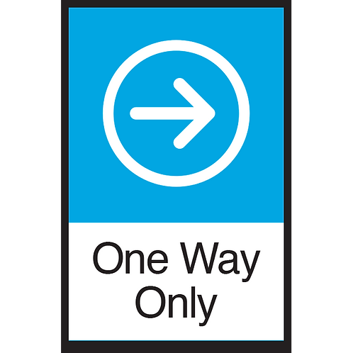 Series 3: One Way (Right Arrow) - Poster/Sign
