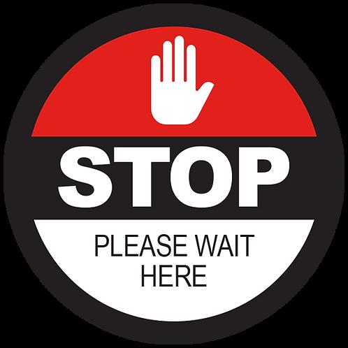 "Series 2: Stop Please Wait Here- Floor Graphic-Circle 17"""