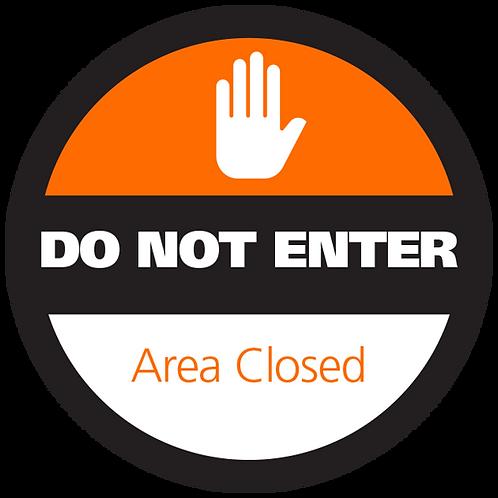 """Series 4: Area Closed - Floor Graphic-Circle 17"""""""