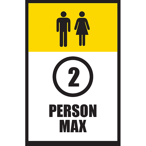 Series 5: 2 Person Max - Poster/Sign