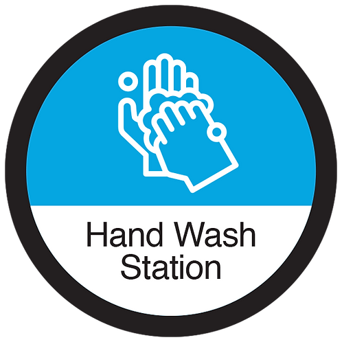 Series 3: Hand Wash Station - Floor Graphic-Circle 17""