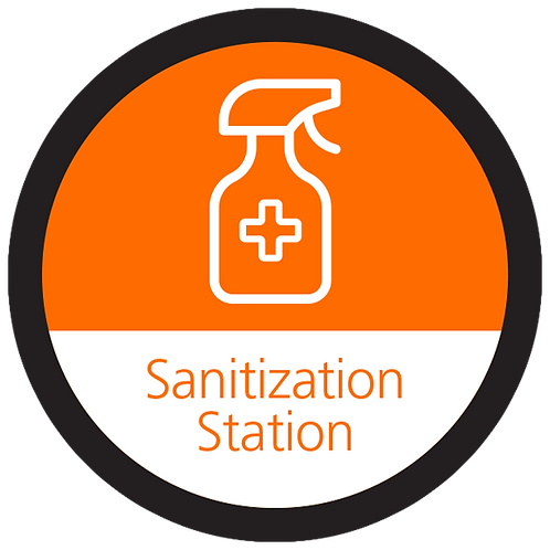 Series 4: Sanitization Station - Floor Graphic-Circle 17""