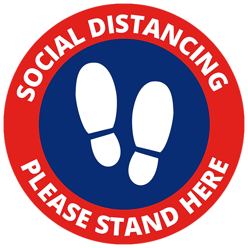 Series 1: Social Distancing-Please Stand Here - Floor Graphic-Circle 17""