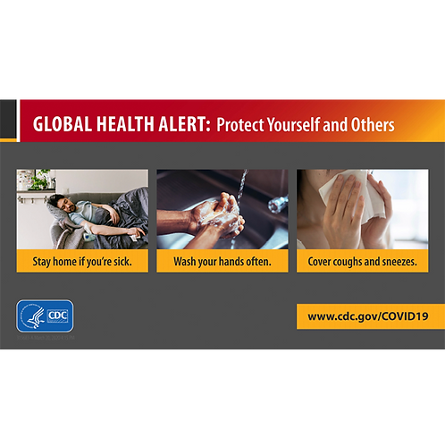 Global Health Alert - CDC Official Poster