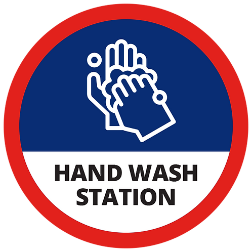 Series 1: Hand Washing Station - Floor Graphic-Circle 17""