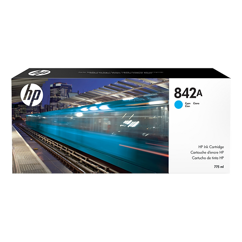 HP 842A 775-ml Cyan Ink Cartridge (for XL 8000)