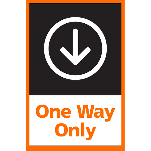 Series 4: One Way (Down Arrow) - Poster/Sign