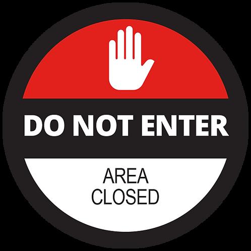 """Series 2: Area Closed Floor Graphic-Circle 17"""""""