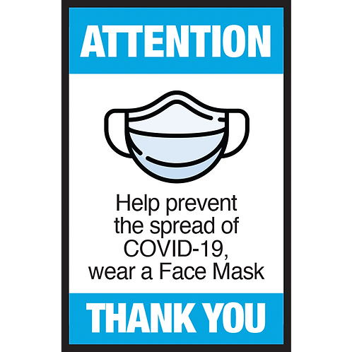 Series 3: Help Prevent the Spread of COVID-19, Wear a Face Mask - Poster/Sign