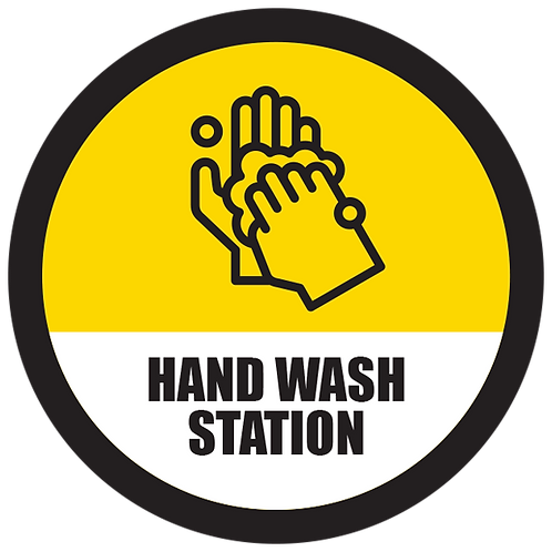 Series 5: Hand Wash Station - Floor Graphic-Circle 17""