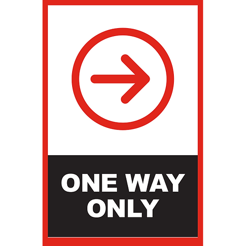 Series 2: One Way (Right Arrow) - Poster/Sign