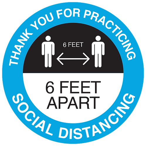 Series 3: Thank You for Practicing Social Distancing - Floor Graphic-Circle 17""