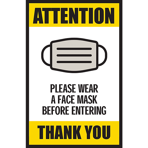 Series 5: Please Wear a Face Mask Before Entering - Poster