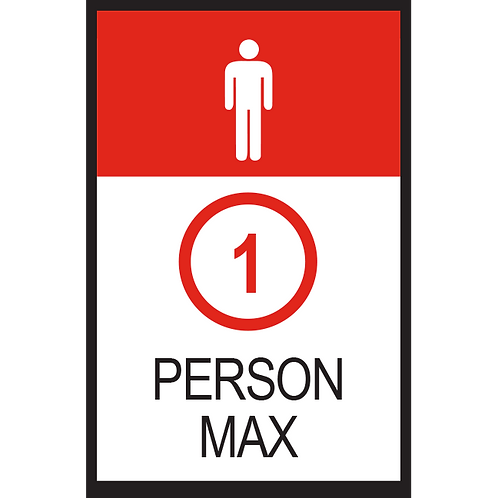 Series 2: 1 Person Max (Male) - Poster/Sign