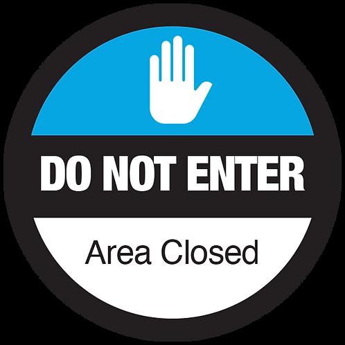 """Series 3: Area Closed - Floor Graphic-Circle 17"""""""