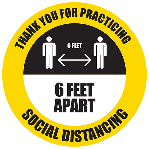 """Series 5: Thank You for Practicing Social Distancing - Floor Graphic-Circle 17"""""""