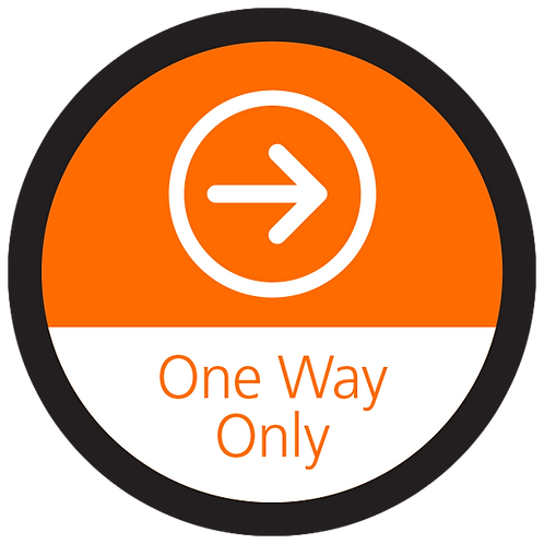 Series 4: One Way Only Right Arrow - Floor Graphic-Circle 17""
