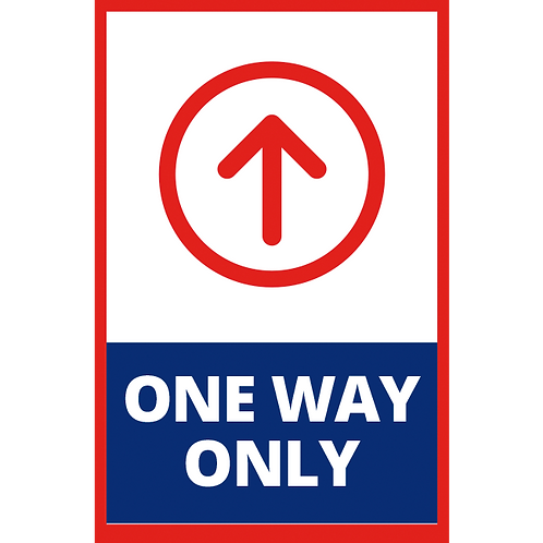 Series 1: One Way Only Up Arrow - Poster/Sign