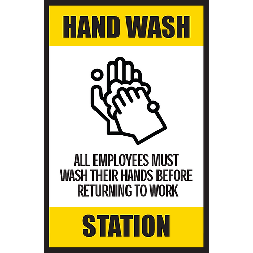Series 5: Hand Wash Station - Poster/Sign