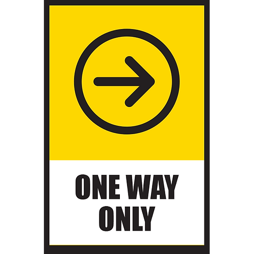 Series 5: One Way (Right Arrow) - Poster/Sign