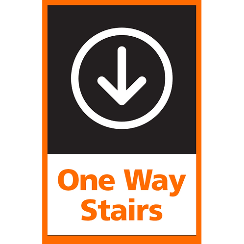 Series 4: One Way Stairs (Down Arrow) - Poster/Sign
