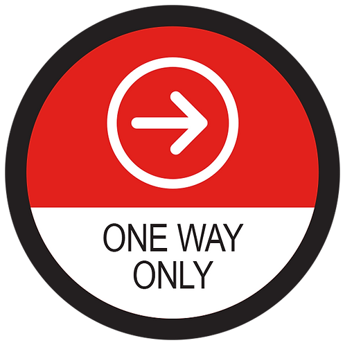 Series 2: One Way Only Right Arrow - Floor Graphic-Circle 17""
