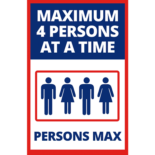 Series 1: 4 Persons Max- Elevator - Poster/Sign