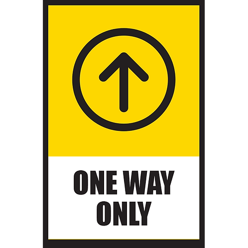 Series 5: One Way (Up Arrow) - Poster/Sign