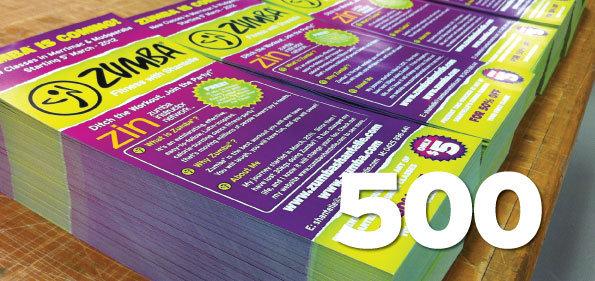 500 x DL Flyers 4 colour process