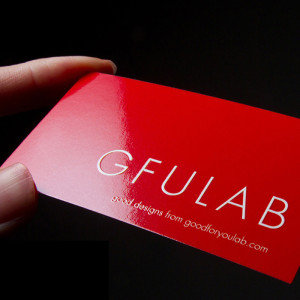 1000 x Offset Gloss Cello Business Cards