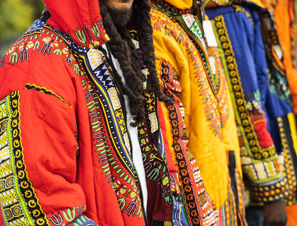 Dashiki Print Hooded Jacket
