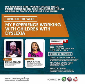 Join the weekly special needs awareness