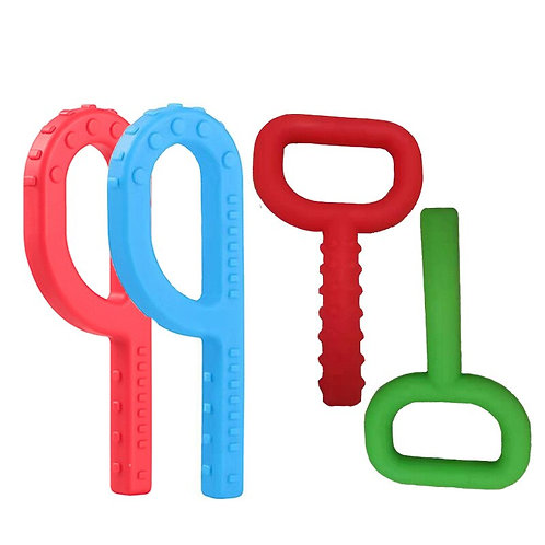 Silicone P Key Shaped Oral Motor Chew Toys Sensory Tool for Autism Special Needs