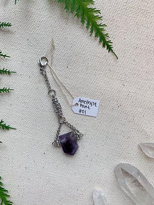 Amethyst Point Keychain
