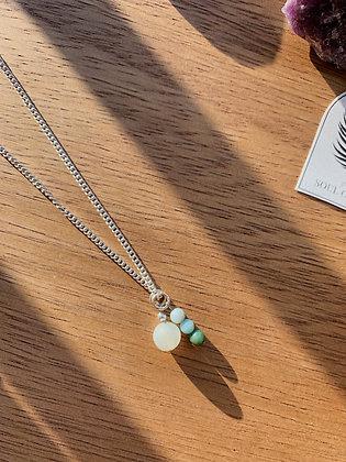 Amazonite Mixed Pendant Necklace