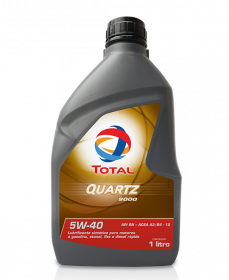 TOTAL QUARTZ 9000 5W40 SM  1Litro