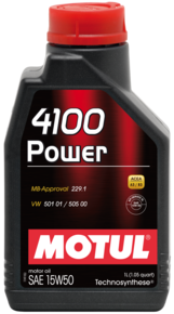 MOTUL 4100 POWER SAE 15W50 SL 1Litro