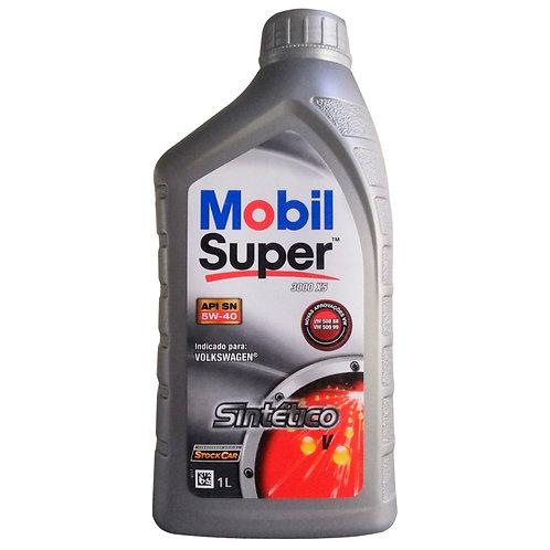 MOBIL SUPER 3000  X5 SINTÉTICO SAE  5W40 SM  VW 508/509 1Litro