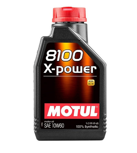 MOTUL 8100 X-POWER SINTETICO SAE 10W60 ACEA A3/B4 1Litro
