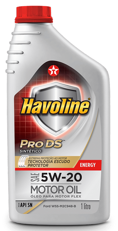 TEXACO HAVOLINE PRODS  ENERGY SINTETICO SAE 5W20 SN 1Litro